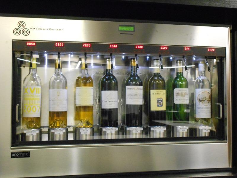 Dispensador en Max Bordeaux Wine Gallery