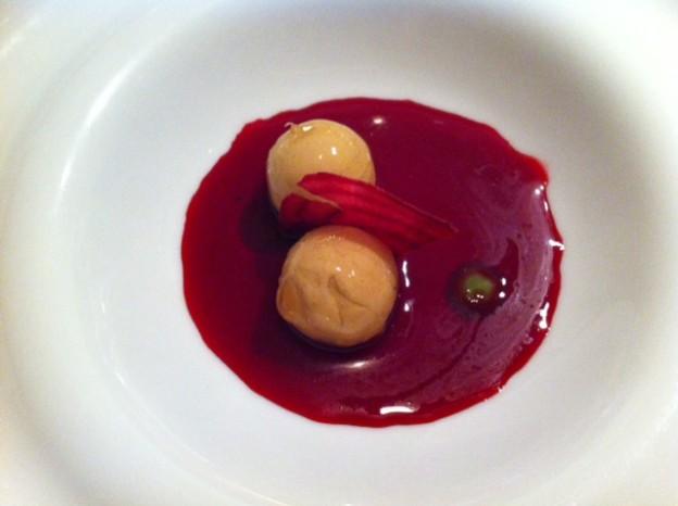 Foie-gras remolacha y vainas verdes - Novodabo