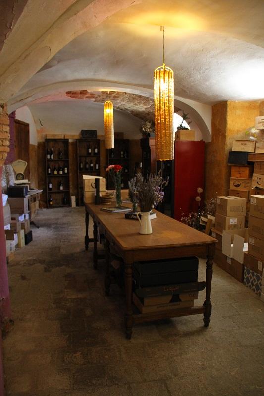 Tienda de vino en el Restaurante La Cooperativa