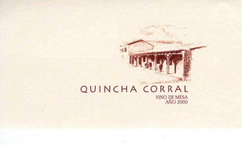 Etiqueta Quincha Corral 2000