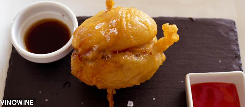 Champiñón sorpresa en tempura de Toni Grimalt