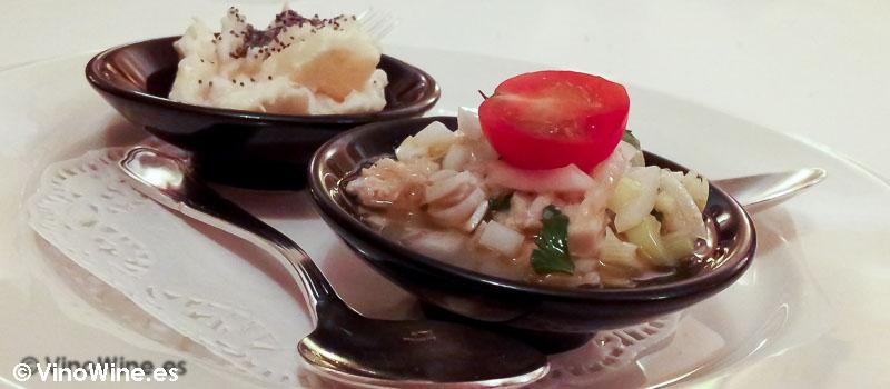 Ensaladilla de pescado y gambas y la vinagreta de atún de Casa Juliet de Alcoy