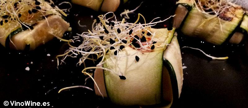 Calabacin con queso brie a la plancha de Restaurante Sant Francesc 52 de Alcoy