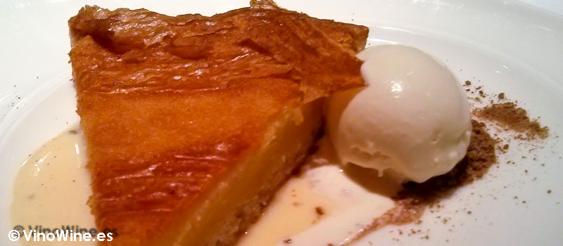 Pastel vasco calentito de Zarate en Bilbao