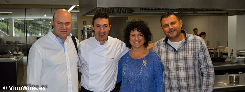 Toni, Ana y Jose con Eneko en Azurmendi