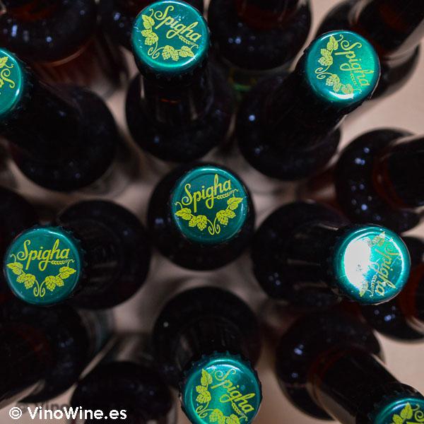 Segunda fermentación en botella de cerveza artesanal Spigha