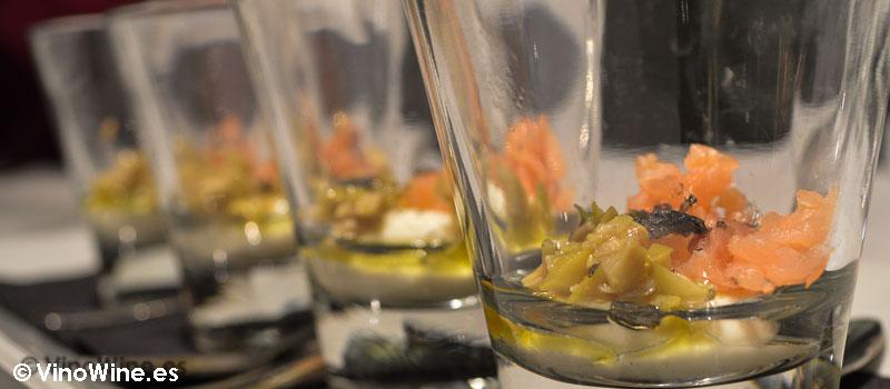 Crema de queso con salmón y pepinillo de La Cigrona de Valencia