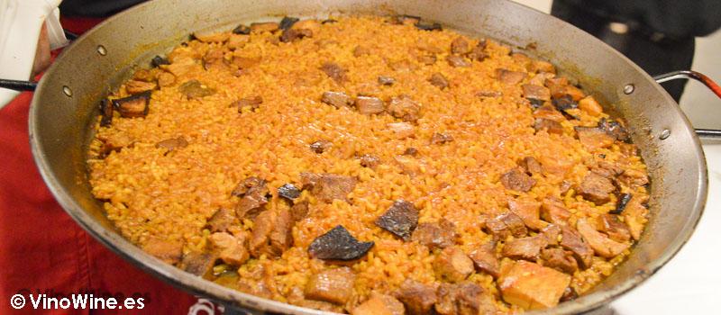Paella de  solomillo de buey, setas y foie de La Cigrona de Valencia