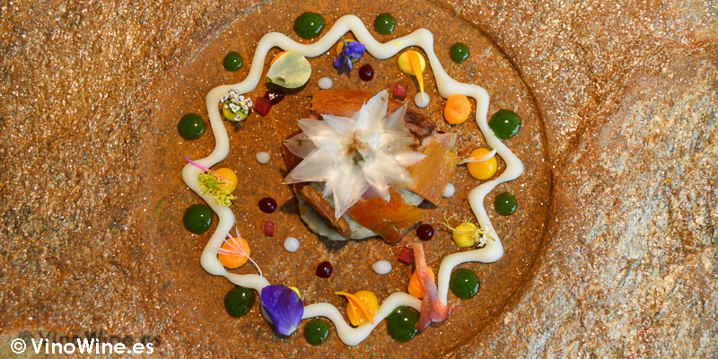 Mandala especiado de flor de alcachofa Celler de Can Roca