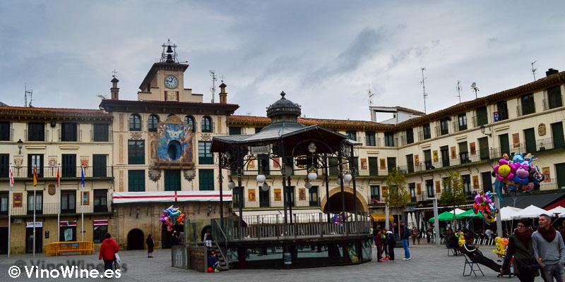 Plaza de los Fueros en Tudela