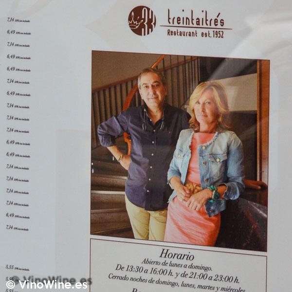 Ricardo Gil y Maria Pilar Vicente de Restaurante 33 en Tudela