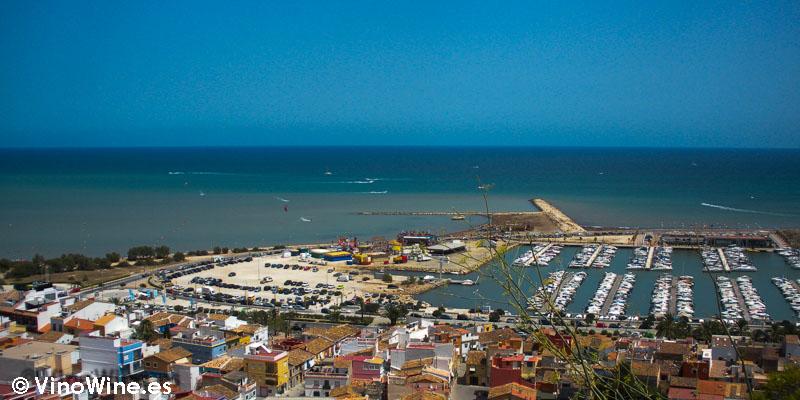 Puerto de Denia desde el Castillo