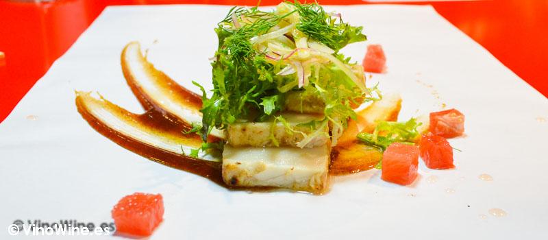 Tataki a la brasa de pez mantequilla de StreetXO