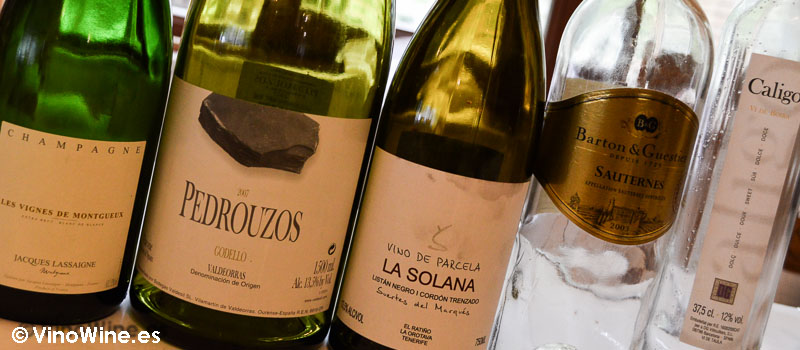 Los vino degustados en las Piscinas en Villacarriedo Cantabria