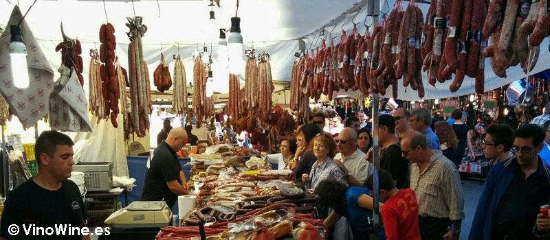Embutidos en la Feria de Cocentaina en Alicante