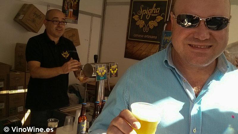 Puesto de Cerveza Artesana Spigha en la Feria de Cocentaina en Alicante