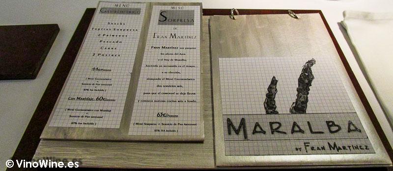 Carta de autor de Maralba by Fran Martínez en Almansa