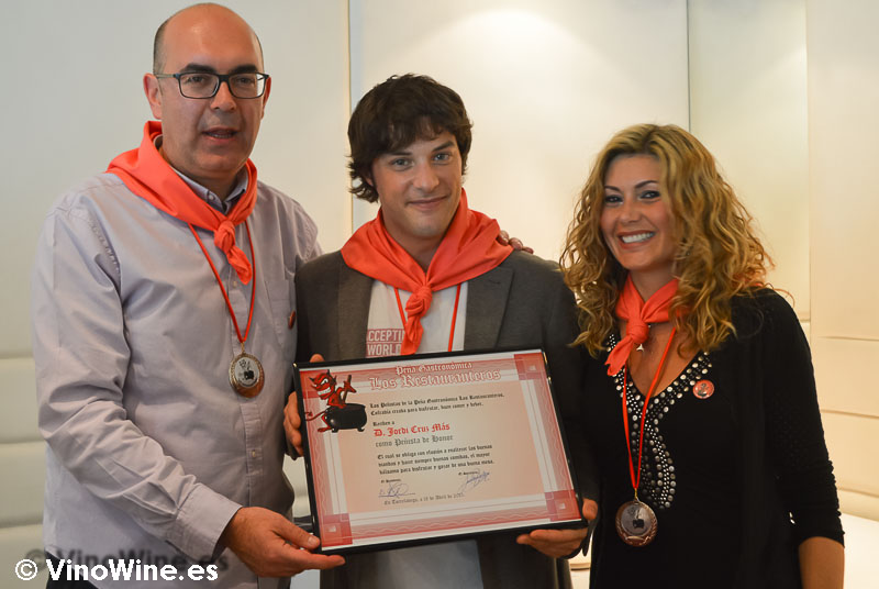 Jordi Cruz Restaurantero de Honor 2015 en L'Angle de Barcelona