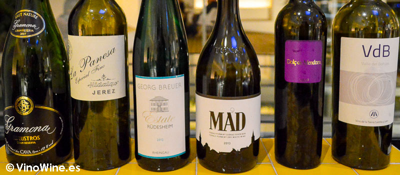 Los vinos en Disfrutar en Barcelona