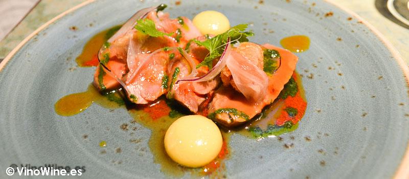 Solomillo de cerdo ibérico pibil de Disfrutar en Barcelona