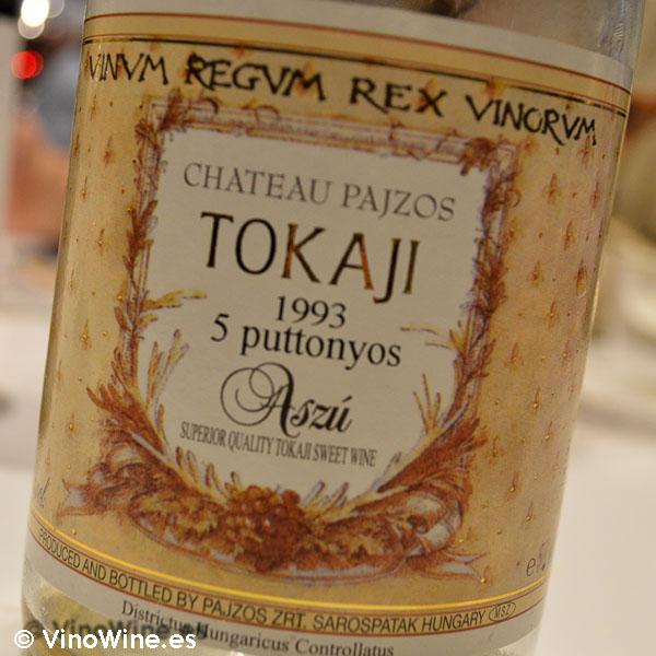 Tokaji disfrutado en Monvínic en Barcelona