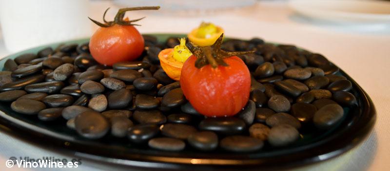 Tomate encurtido y tomate encurtido en seco del Poblet de Quique Dacosta en Valencia
