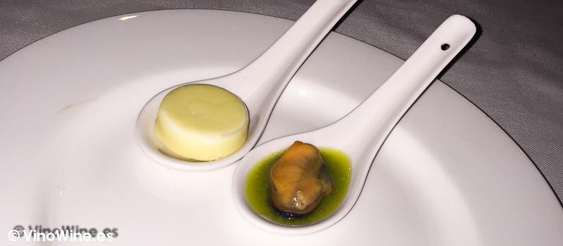 Bonbón de queso y mejillón yodado  de La Serena en Altea