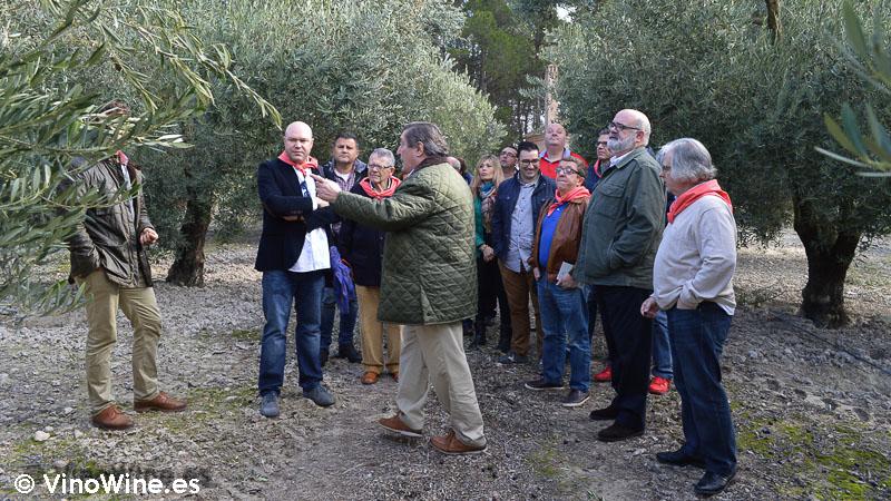 Encuentro Restauranteros en Alcoy con Jordi Petit en el olivar