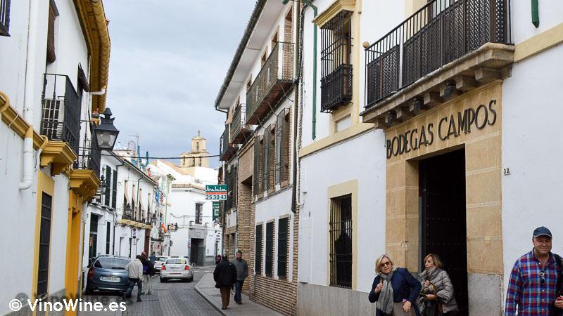 Fachada de Restaurante Bodegas Campos en Córdoba
