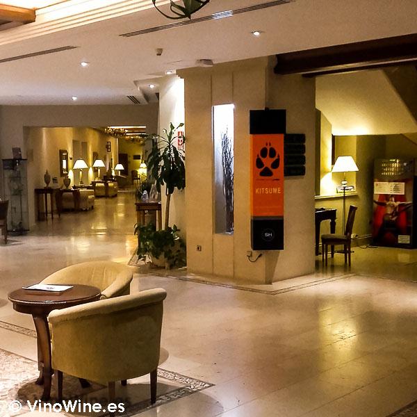 Hall del Hotel Villa Gadea del Restaurante de comida japonesa Kitsume en Altea