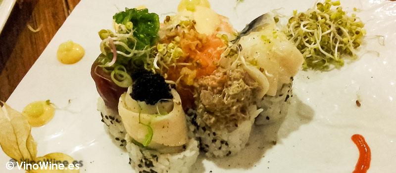 Kitsume roll del Restaurante de comida japonesa Kitsume en Altea