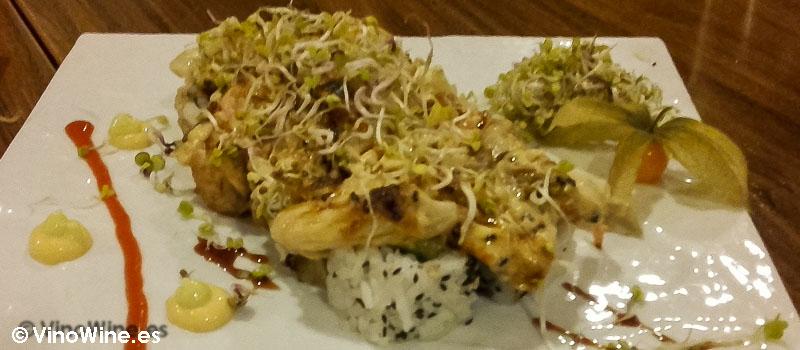 Lotus roll del Restaurante de comida japonesa Kitsume en Altea