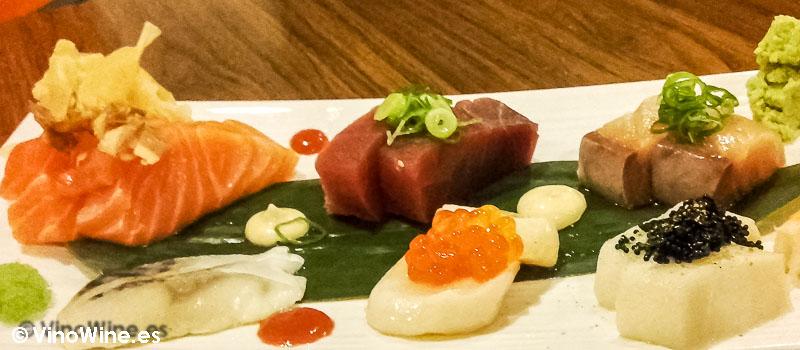 Sashimi variado del Restaurante de comida japonesa Kitsume en Altea