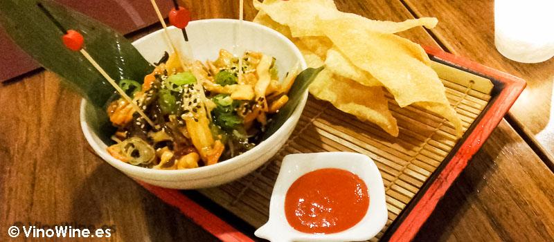 Aperitivo del Restaurante de comida japonesa Kitsume en Altea