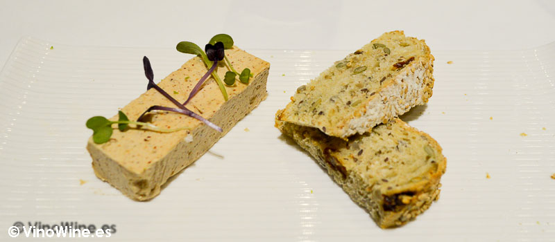 Turrón de foie de Restaurante L'Amagatall de Tota en Alcoy