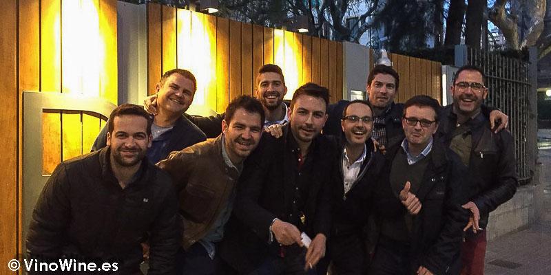Buenos amigos en el Restaurante L'ABaC en Barcelona