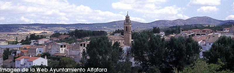 Imagen del pueblo de Alfafara de la web del Ayuntamiento