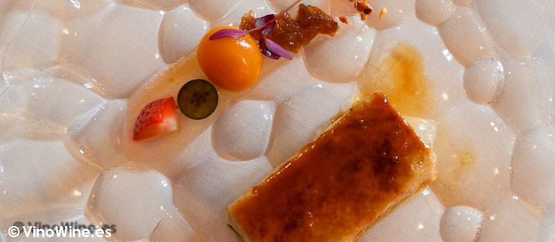 Perfecto de foie del Restaurante Cenador de Amós en Cantabria