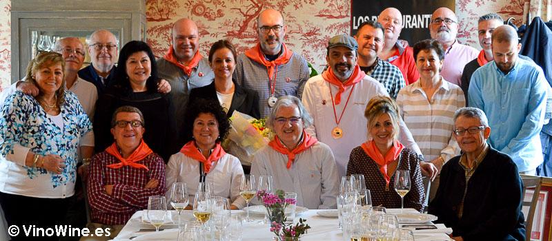 Peña Gastronómica los Restauranteros en el Restaurante el Cenador de Amós en Cantabria