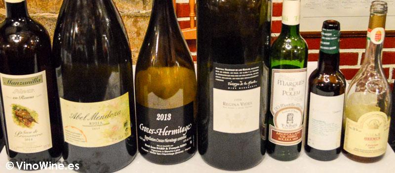 Los vinos seleccionados por Andrés Conde de la Cigaleña en Santander