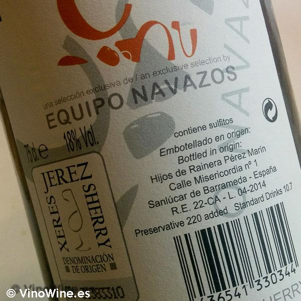 Palo Cortado de Navazos bebido en Restaurante Solana de Cantabria