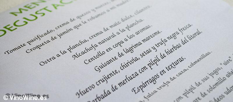 Menu ad-hoc del Restaurante Solana de Cantabria
