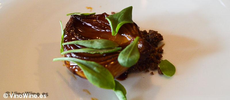 Cebolleta glaseada y tomillo del Restaurante la Casona del Judio de Sergio Bastard