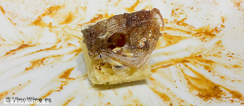 Cabeza de salmonete de Diverxo con Daviz Muñoz