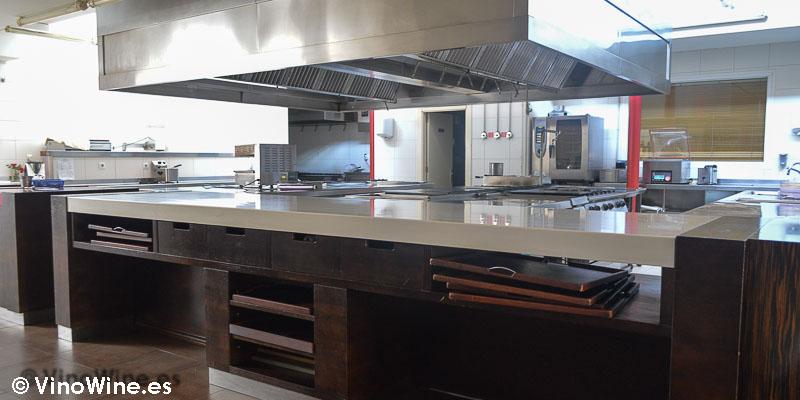 Cocina del Restaurante Casa Gerardo en Prendes Asturias