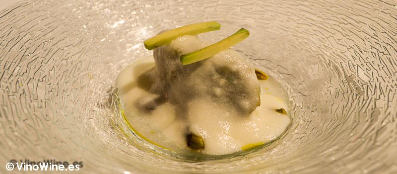 Cogollo a la crema de Casa Gerardo en Prendes Asturias