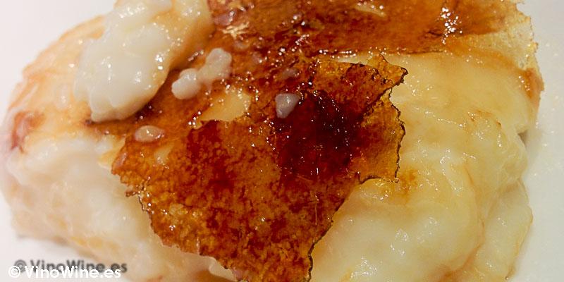 Crema de arroz con leche requemada de Prendes del Restaurante Casa Gerardo en Asturias