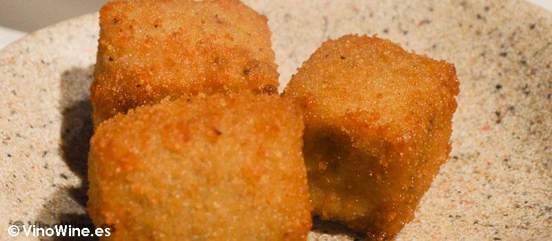 Croquetas de compango de Fabada de Casa Gerardo en Prendes Asturias