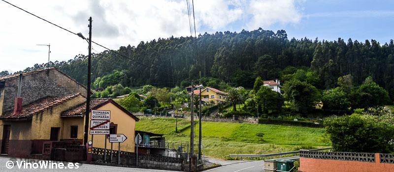 Entorno exterior del Restaurante Casa Gerardo en Prendes Asturias