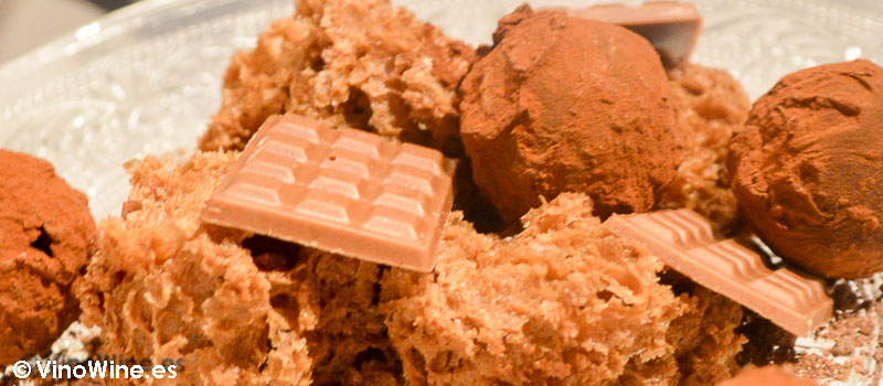 Petit Fours de chocolate de Casa Gerardo en Prendes Asturias